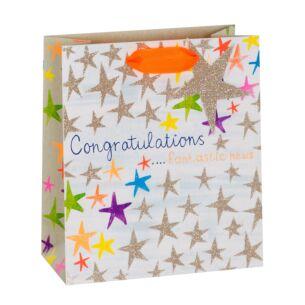 Congratulations Stars Medium Gift Bag