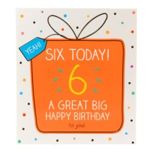 '6 Today Happy Birthday to You!' Card