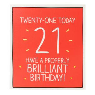 'Twenty-One Today' Card