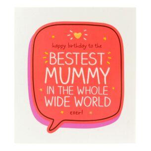Happy Jackson 'Happy Birthday to the Bestest Mummy' Card