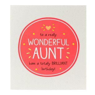 Happy Jackson 'Wonderful Aunt Have a Brilliant Birthday' Card