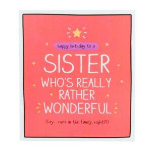 Happy Jackson Sister 'Rather Wonderful' Card
