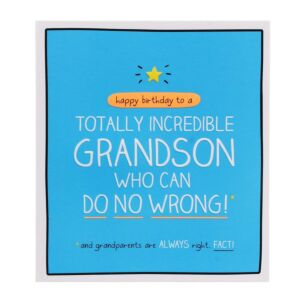 Happy Jackson Grandson 'Totally Incredible' Card