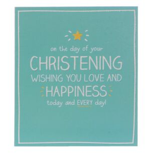 Christening Love And Happiness Card