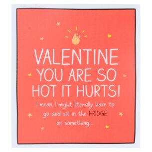 'So Hot It Hurts' Valentines Card