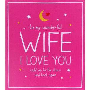 Wonderful Wife Valentine's Day Card