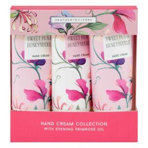 Sweet Pea & Honeysuckle Hand Cream Trio