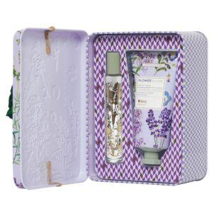 RHS Flower Blooms Lavender Garden Perfume Gel and Hand Cream Tin