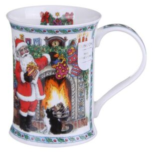 Dunoon It's Christmas - Fireplace With Holly Cotswold shape Mug