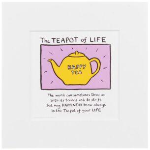 Edward Monkton Teapot of Life Limited Edition Fine Art Print