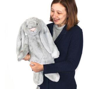 Huge Bashful Silver Bunny