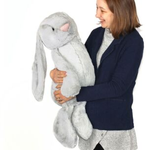 Really Big Bashful Silver Bunny