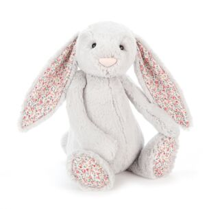 Large Blossom Silver Bunny