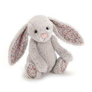 Small Blossom Silver Bunny
