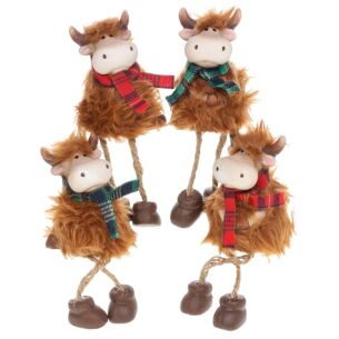 Small Highland Coo with Dangly Legs Ornament