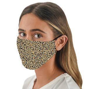 Face Cover with Flexible Nose Bridge – Leopard Print