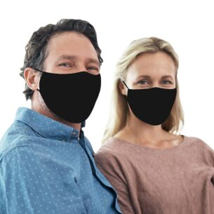 Face Cover With Flexible Nose Bridge – Black