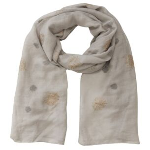 Glitter Leaves Grey Scarf