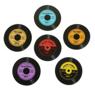 Vinyl Record Coasters - Set of Six