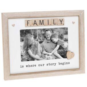 Scrabble 'Family' Sentiments Frame