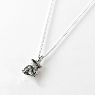 Equilibrium Country Hare Silver Plated Necklace
