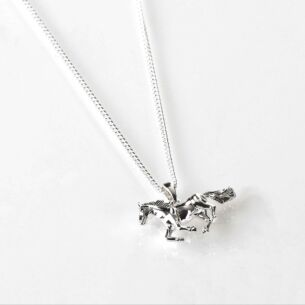 Equilibrium Country Horse Silver Plated Necklace