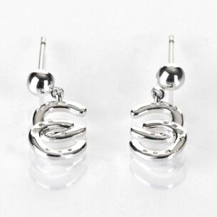 Equilibrium Country Horse Shoes Silver Plated Earrings