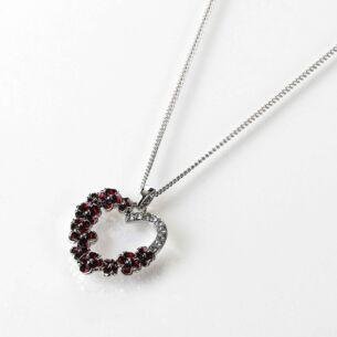 Poppy Diamante Heart Necklace