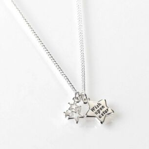 Say it With Words Silver Plated Star Necklace