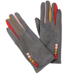 Colourful Fingers Grey Boxed Gloves