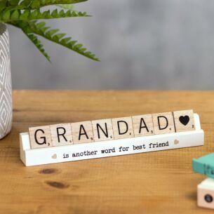 Grandad Scrabble Plaque
