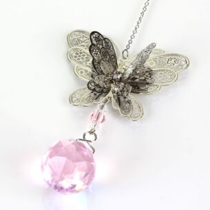 Equilibrium 3D Pink Butterfly Suncatcher