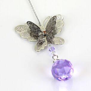 Equilibrium 3D Purple Butterfly Suncatcher