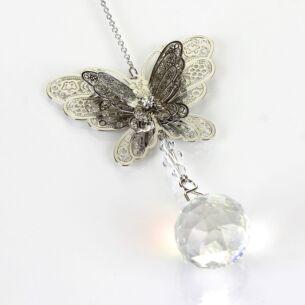 Equilibrium 3D Silver Butterfly Suncatcher