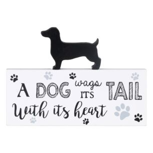 'A Dog Wags Its Tail With Its Heart' Dachshund Plaque
