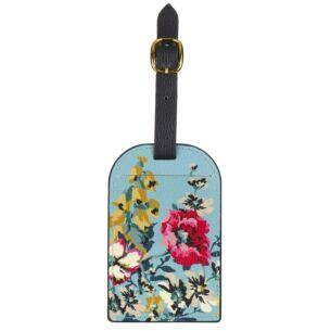Cambridge Floral Bee Luggage Tag