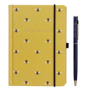 Joules Bee A6 Notebook with Pen
