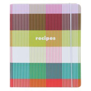Kate Spade New York Rainbow Plaid Recipe Book