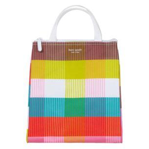 Rainbow Plaid Lunch Bag