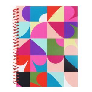 Spade Dot Geo Small Spiral Notebook
