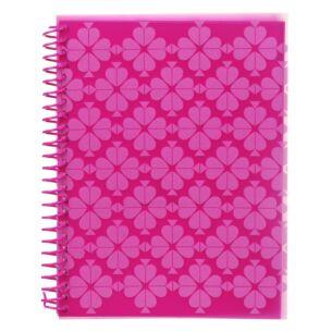 Neon Pink Spade Flower Small Spiral Notebook
