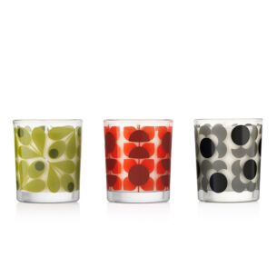 Square Flower Candle Set