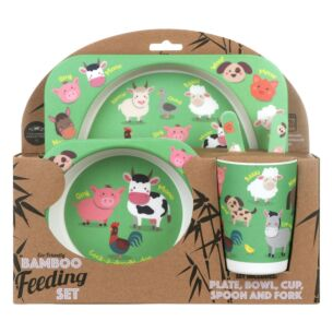 Farmyard Eco-Friendly Bamboo Feeding Set