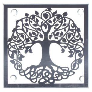 Mirror Tree of Life Set of 4 Coasters