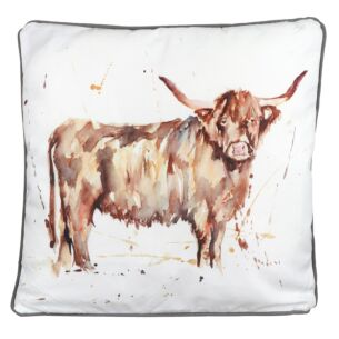 Country Life Highland Cow Cushion