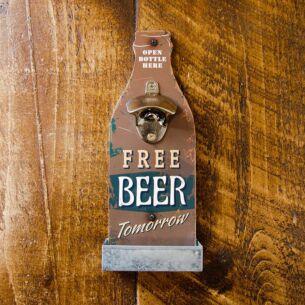 Retro Brown Beer Bottle Opener