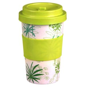 Small Floral Palm Bamboo Travel Mug