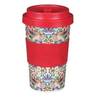 William Morris White Strawberry Thief Small Travel Mug