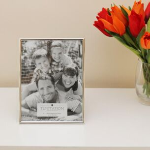 Silver Plated Narrow Edge Photo Frame 8x6