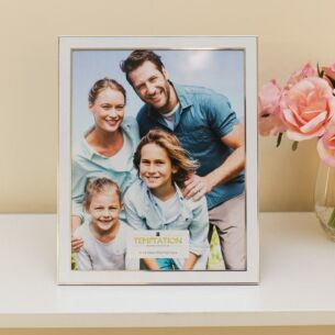 White Edged Photo Frame 10x8